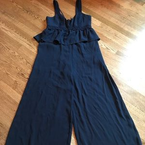 BCBG Maxazria Navy blue sleeveless pantsuit